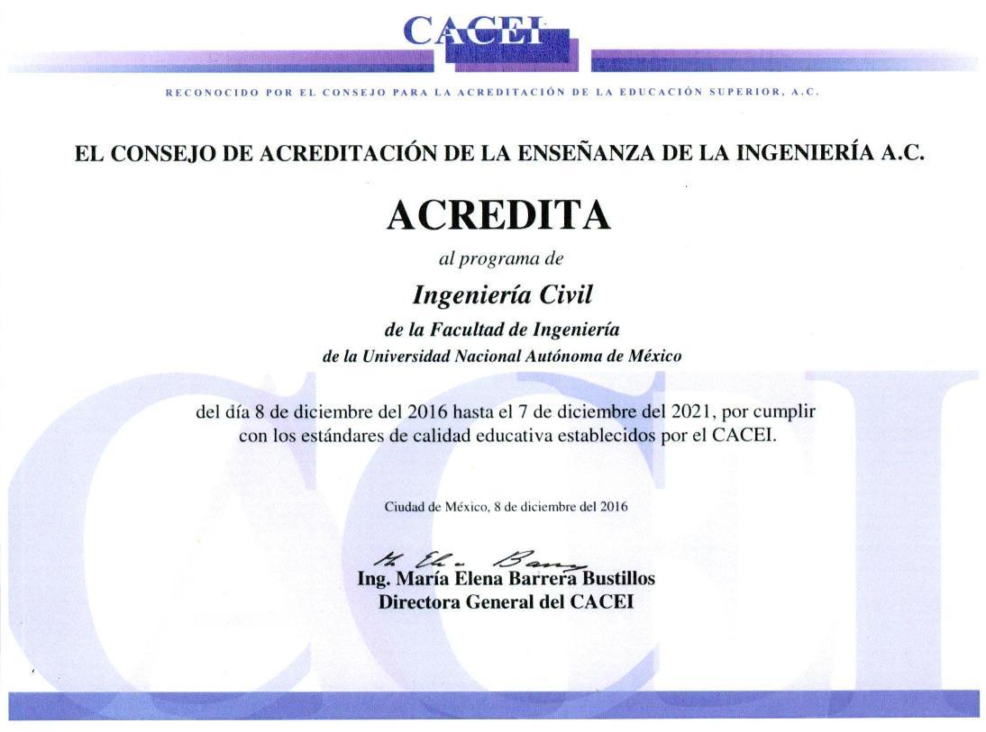 Facultad de Ingeniería / Ingeniería Civil